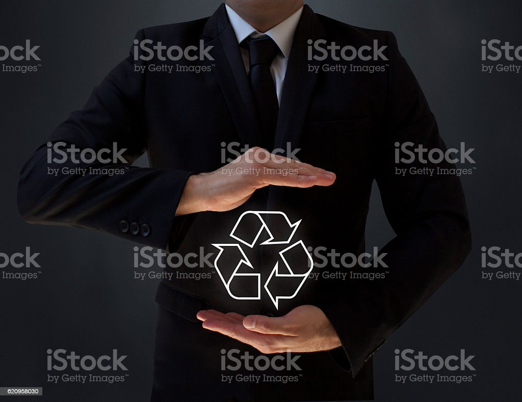 Businessworld and Recycle stock photo
