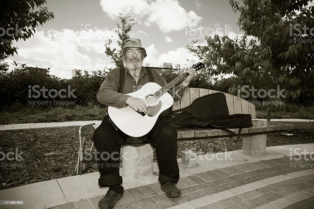 Busker Musician royalty-free stock photo