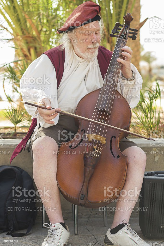 busker stock photo