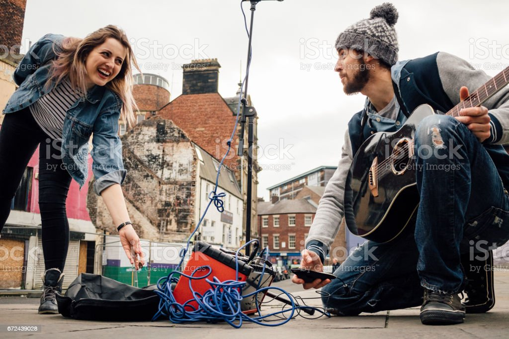 Busking Pays Off! stock photo