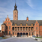 Mechelen, Belgium - October 13, 2016: Busleyden Palace in Mechelen, Belgium. Built in the 16th century, is today one of the buildings housing the city museum.