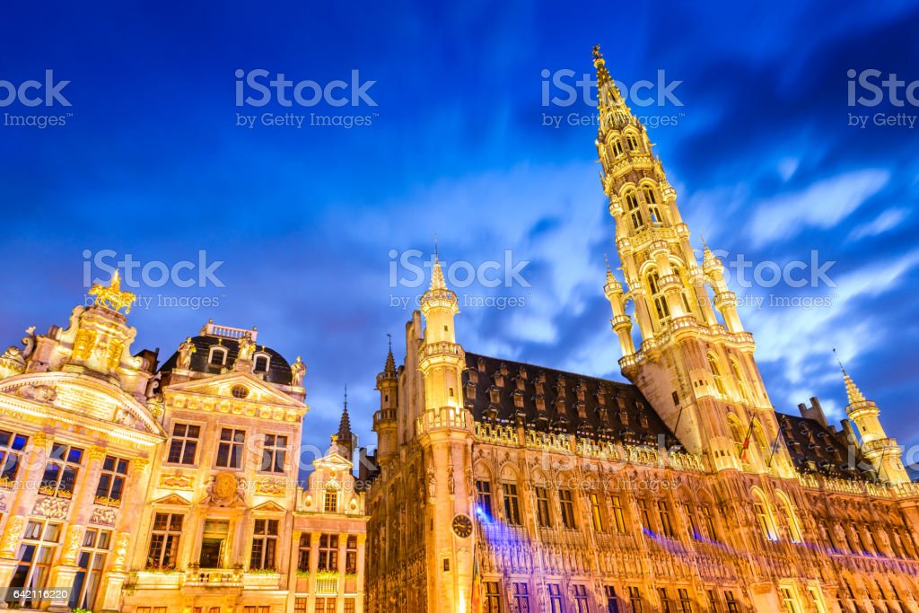 Bussels, Belgium. Grand Place. stock photo