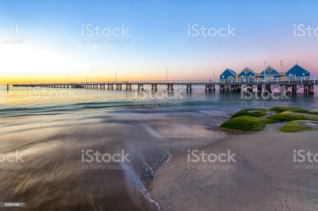 Busselton Jetty At Sunset stock photo