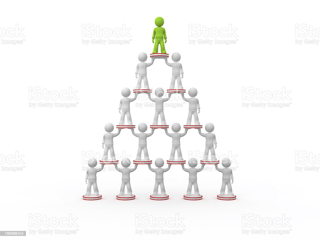MLM bussines structure. royalty-free stock photo