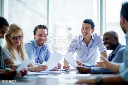 istock Bussiness Associates in a Meeting 508099574