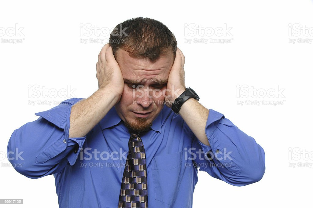 Bussinessman under stress royalty-free stock photo