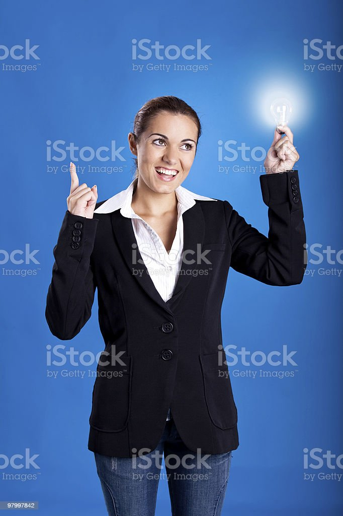 Bussinesswoman having an idea royalty free stockfoto