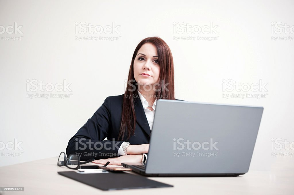 Bussineswoman at office stock photo