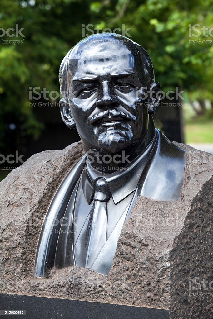 Bust monument of Lenin stock photo