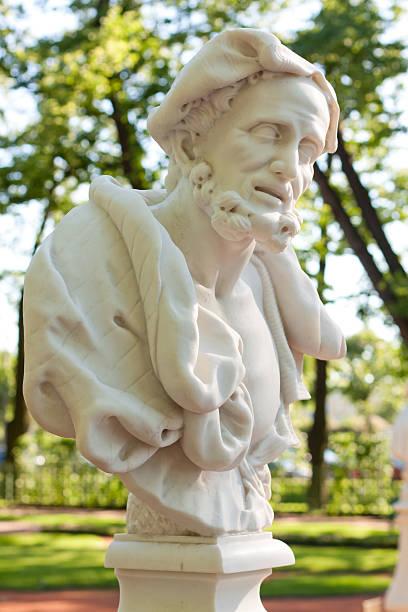 Bust of Aristotle stock photo