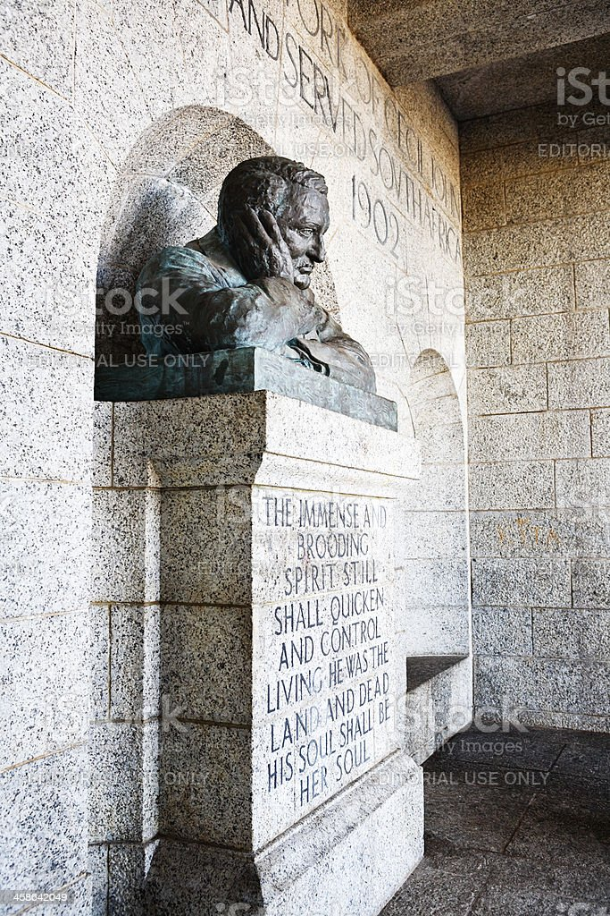 Bust of Cecil John Rhodes, Cape Town, South Africa stock photo