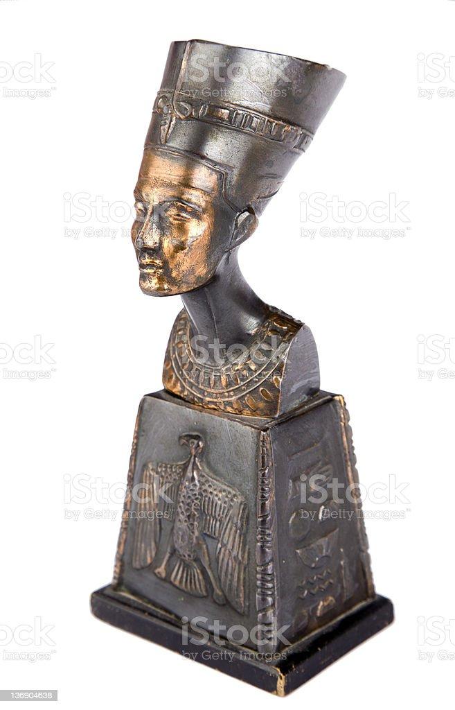 bust of Egyptian pharaoh stock photo