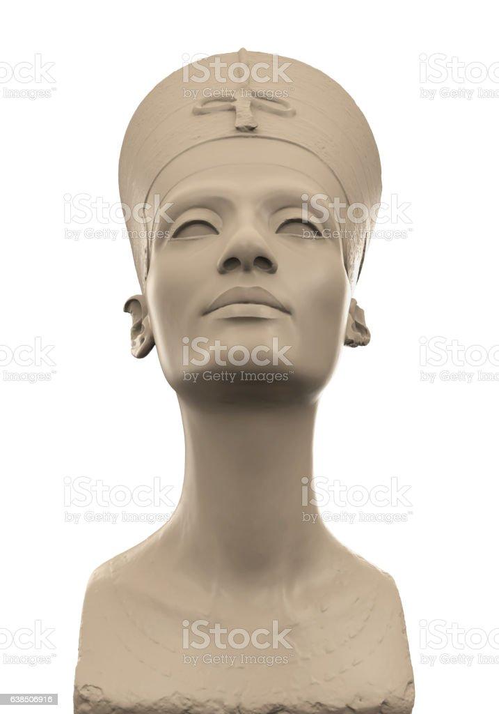 Bust of Queen Nefertiti stock photo