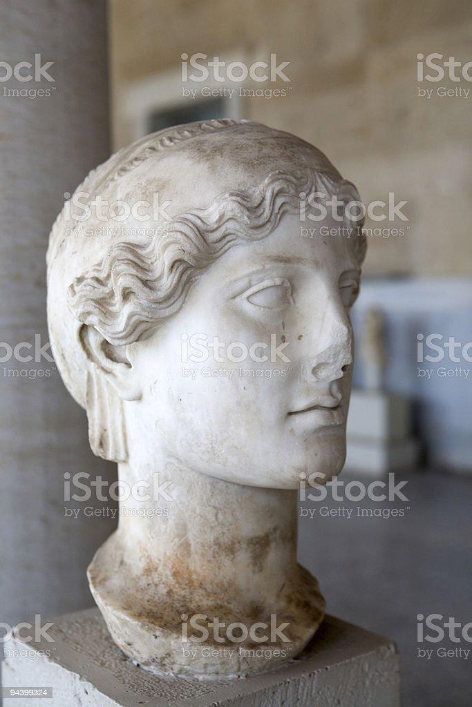 Bust of Roman Noblewoman stock photo