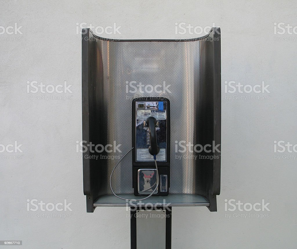 Busted Phone Booth royalty-free stock photo