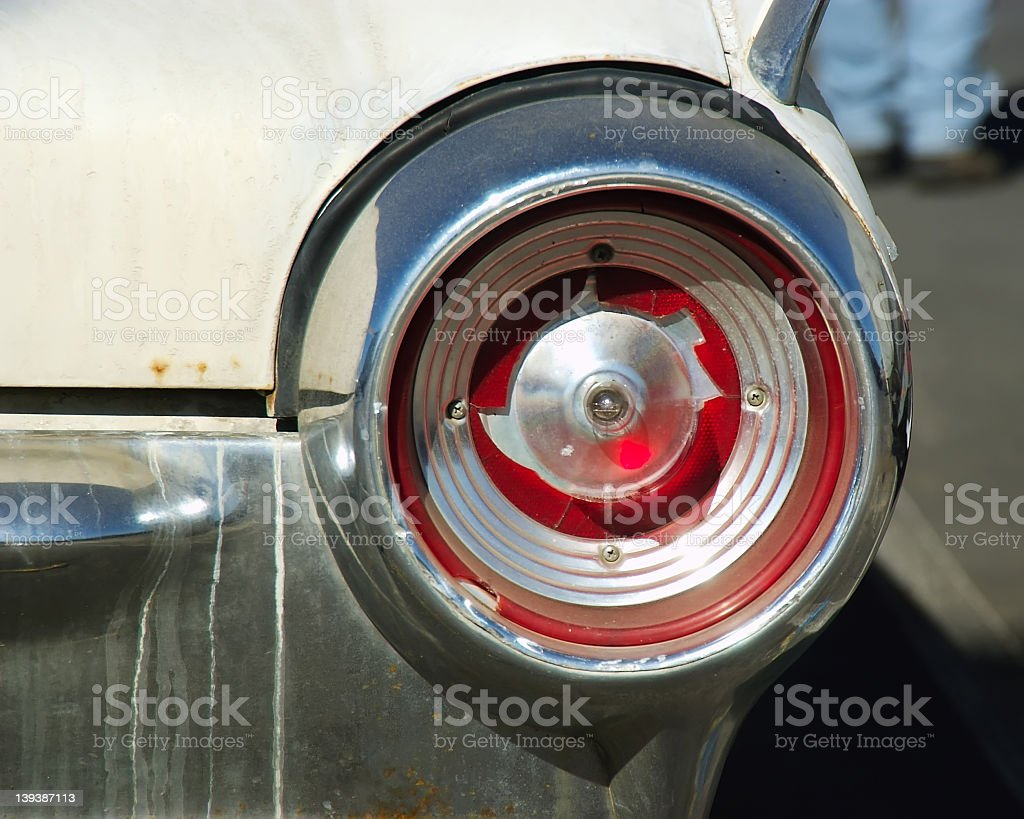 Busted tail light stock photo