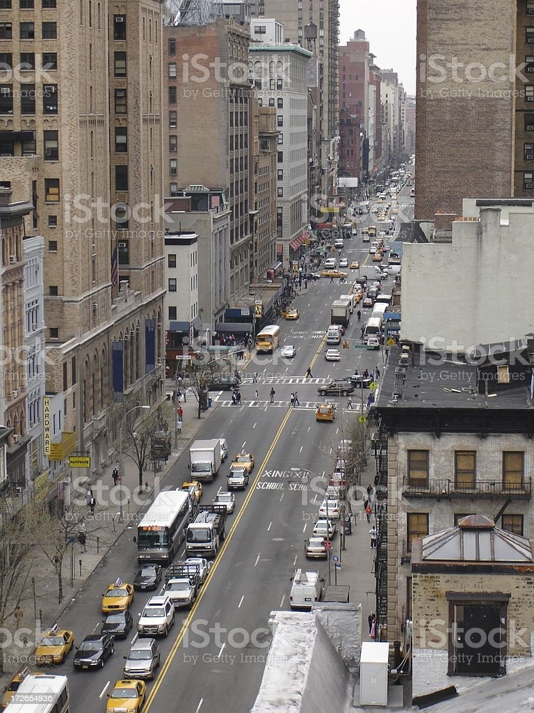 Bustle of NYC royalty-free stock photo