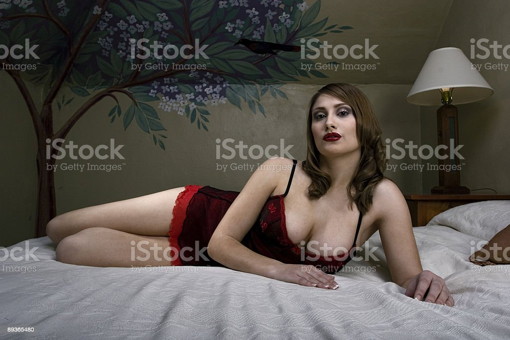 Busty Brunette royalty-free stock photo