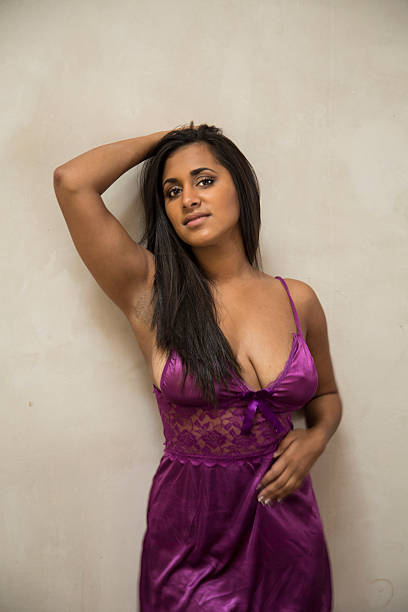 busty young indian woman in lingerie - adults only stock photos and pictures