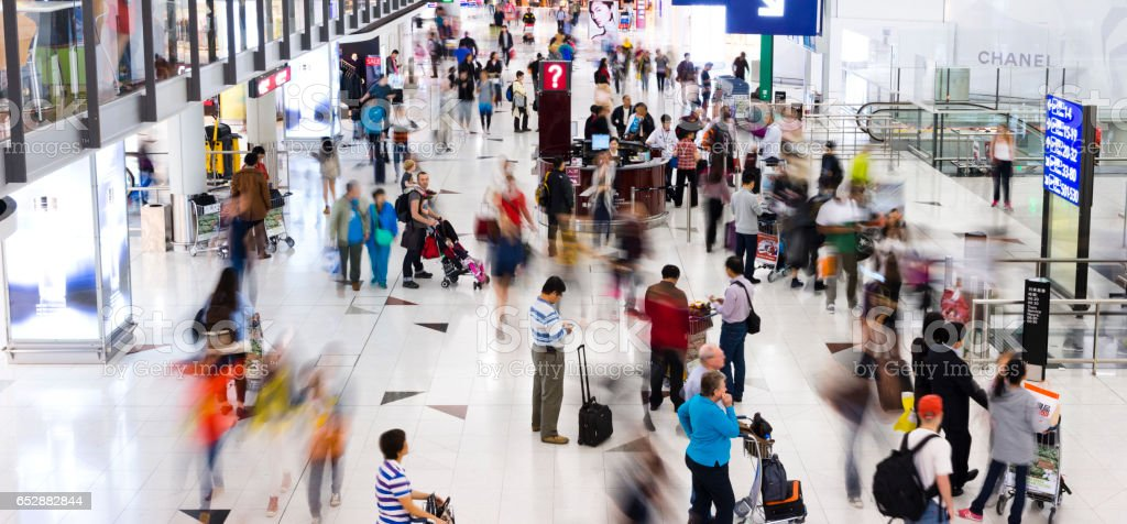 Busy airport - foto stock