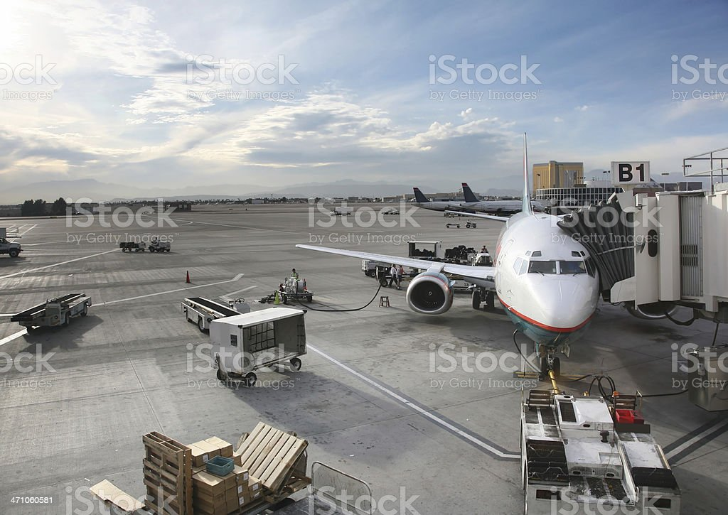 Busy Airport Tarmac royalty-free stock photo