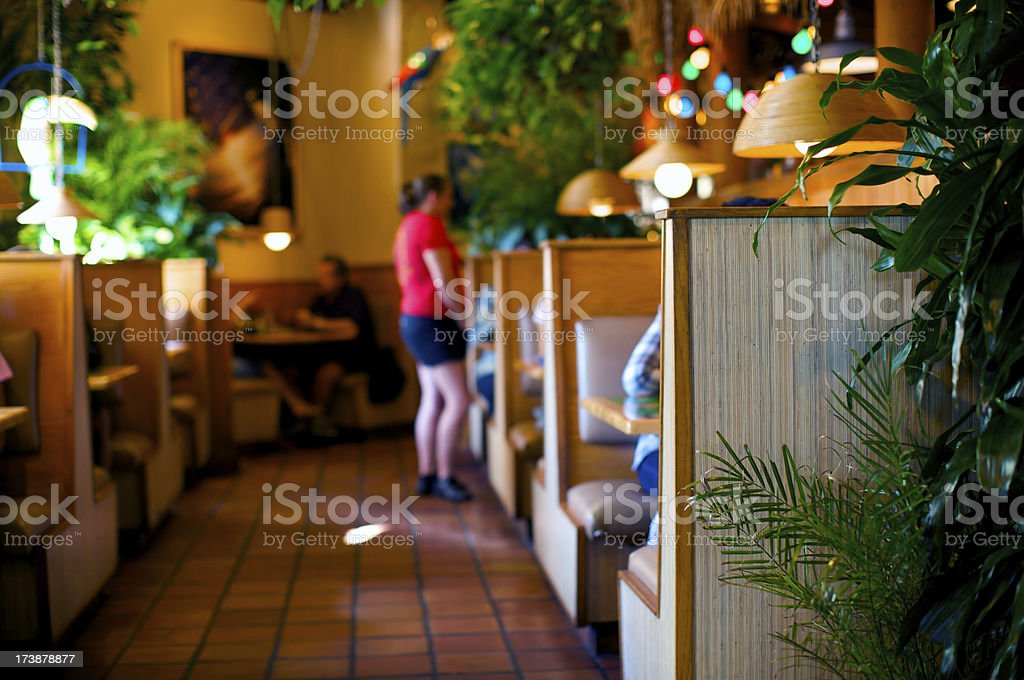 Busy American restaurant royalty-free stock photo