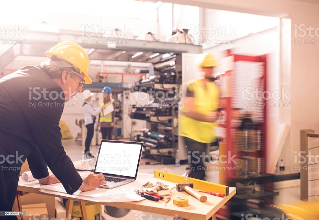 Busy and hardworking stock photo
