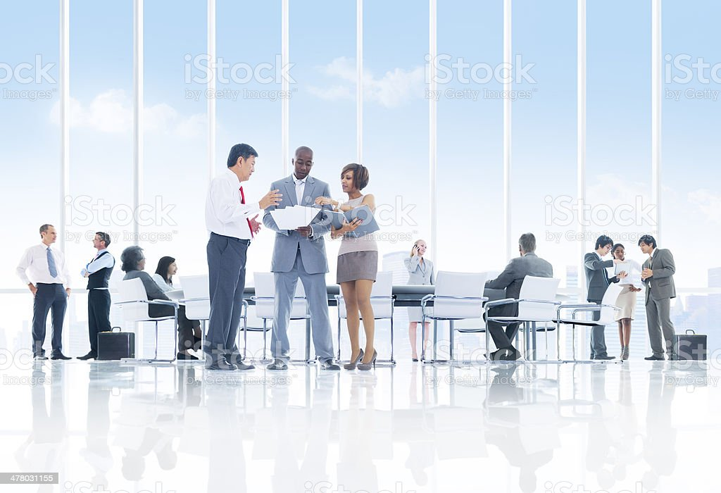 Busy at Work royalty-free stock photo