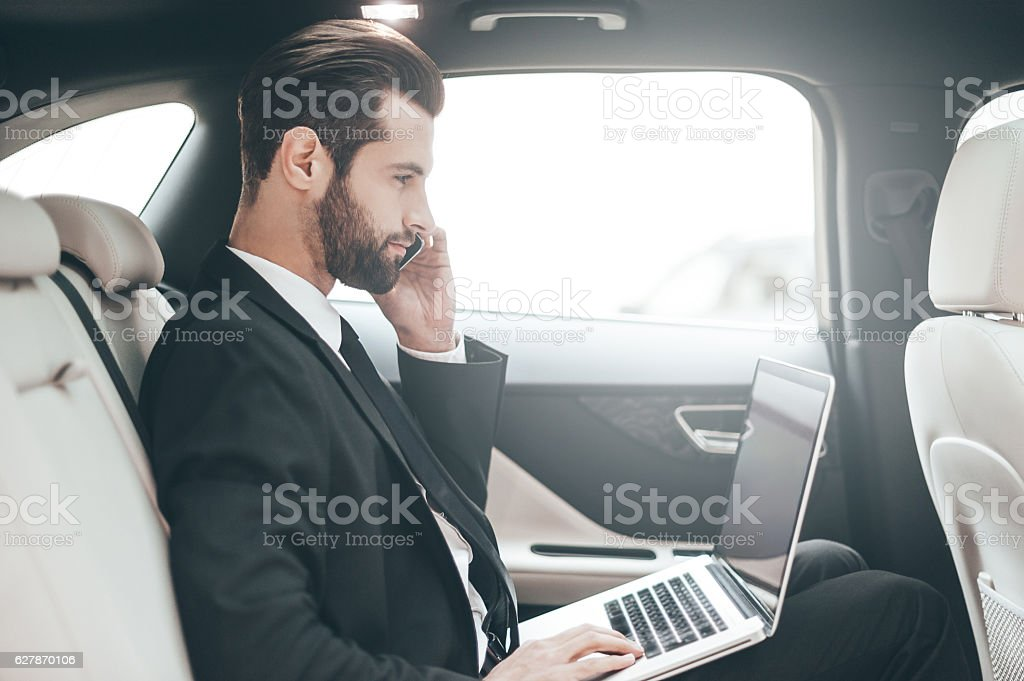 Busy at work. stock photo