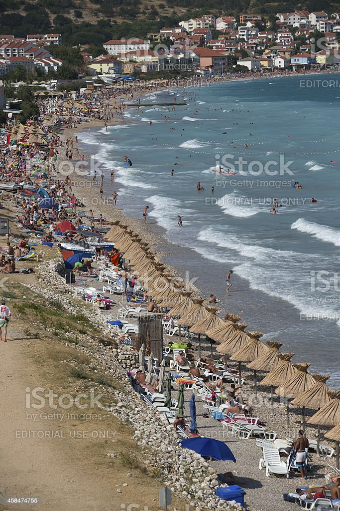 Busy Beach royalty-free stock photo