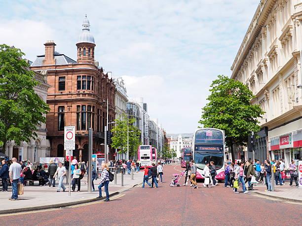 Agitado belfast street - foto de stock