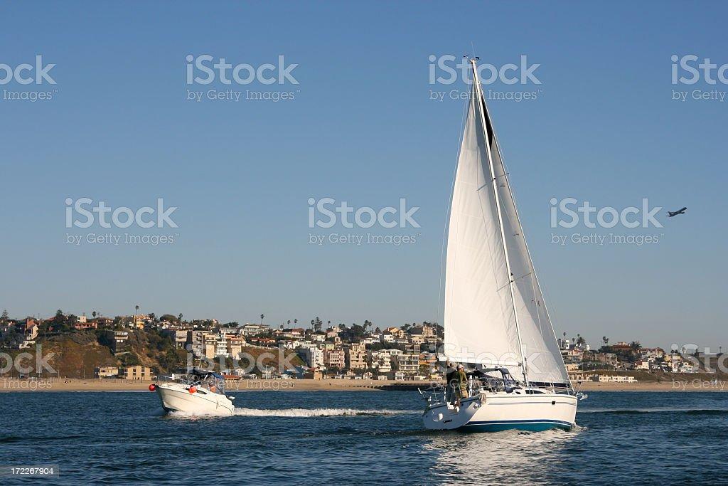 Busy Boats royalty-free stock photo