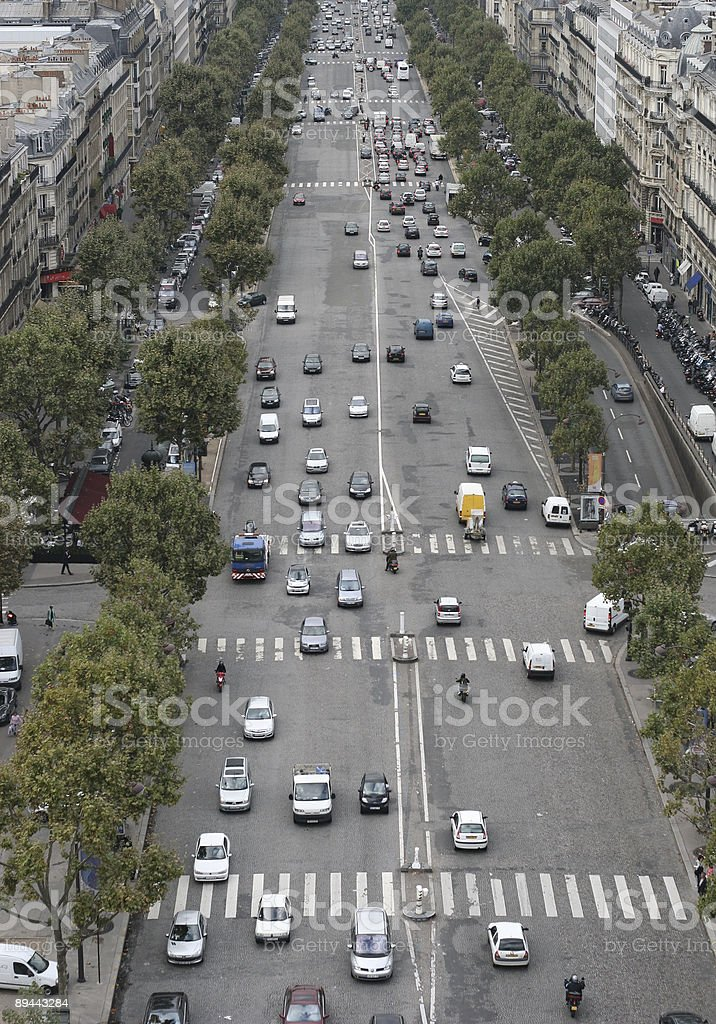 Busy Boulevard royalty-free stock photo