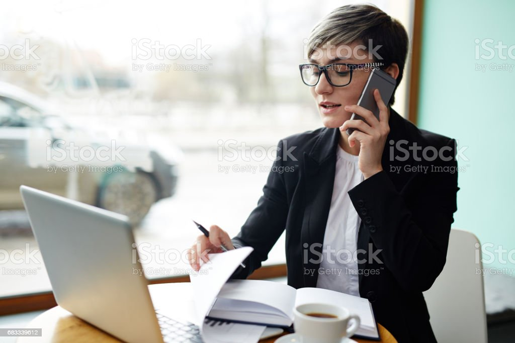 Busy broker - foto de stock