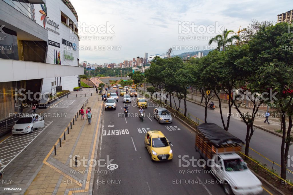 Busy Bucaramanga street stock photo