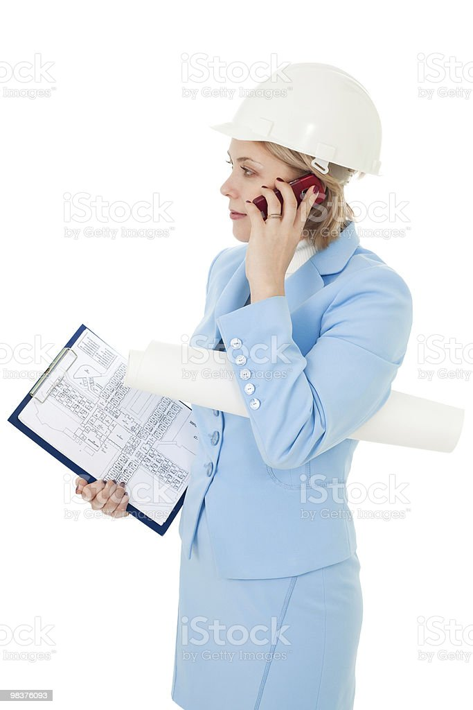 Busy business architect woman royalty-free stock photo