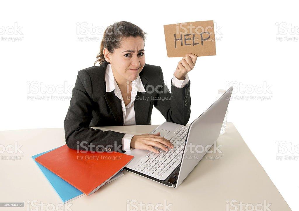 Mujer de negocios trabajando en la computadora de estrés - Foto de stock de Adulto libre de derechos