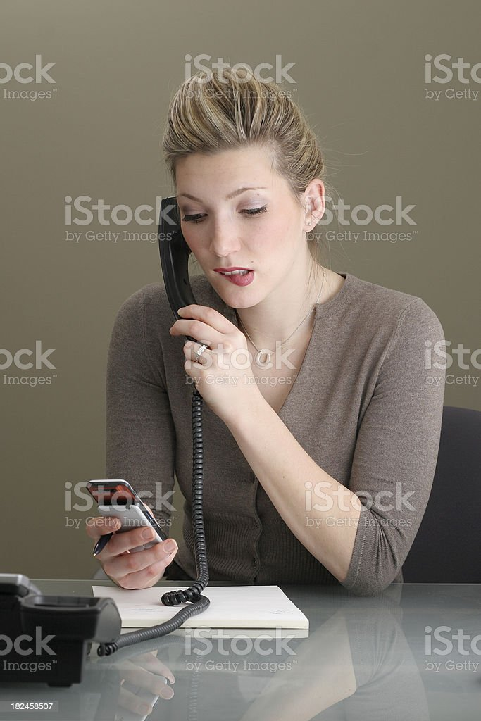 Busy Businesswoman royalty-free stock photo
