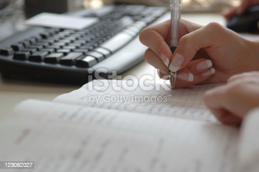 istock Busy businesswoman's schedule 123062027