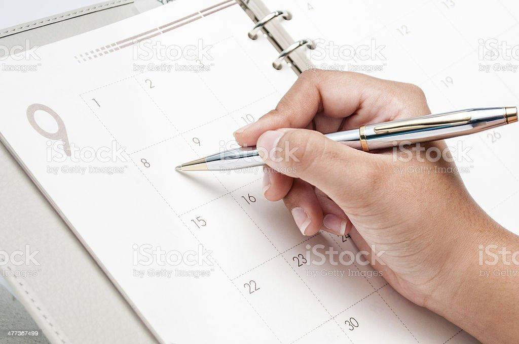 Mulher de negócios ocupado programação - foto de acervo