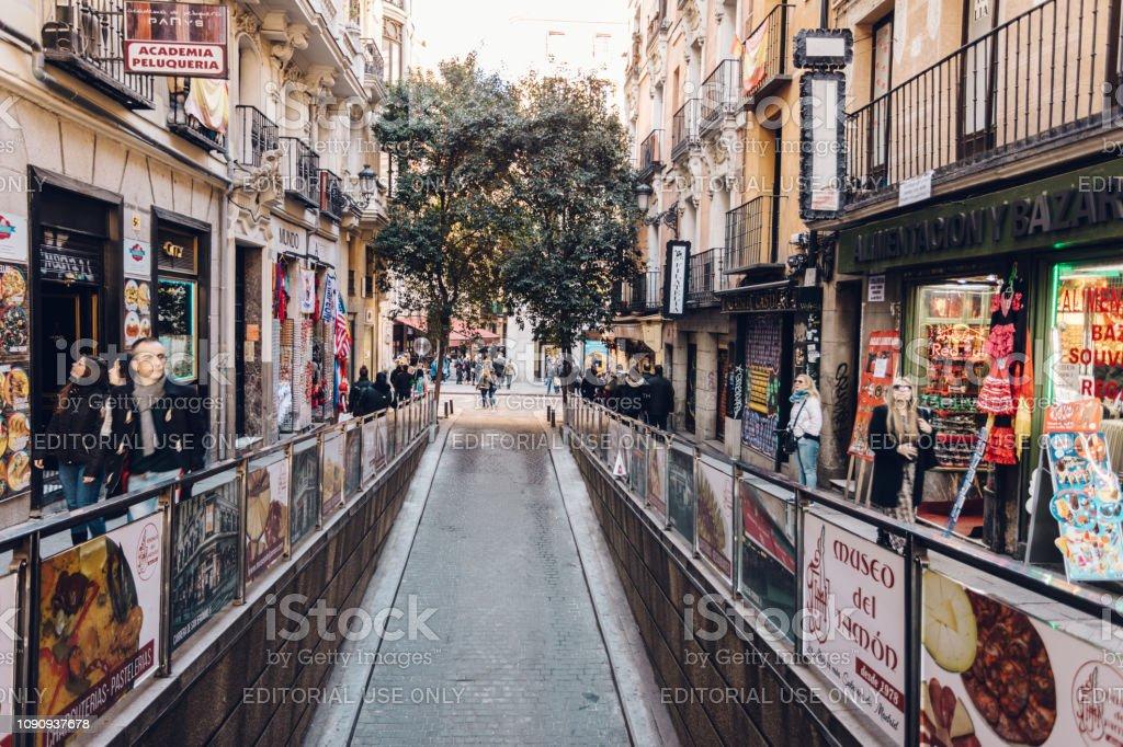 busy city streets stock photo