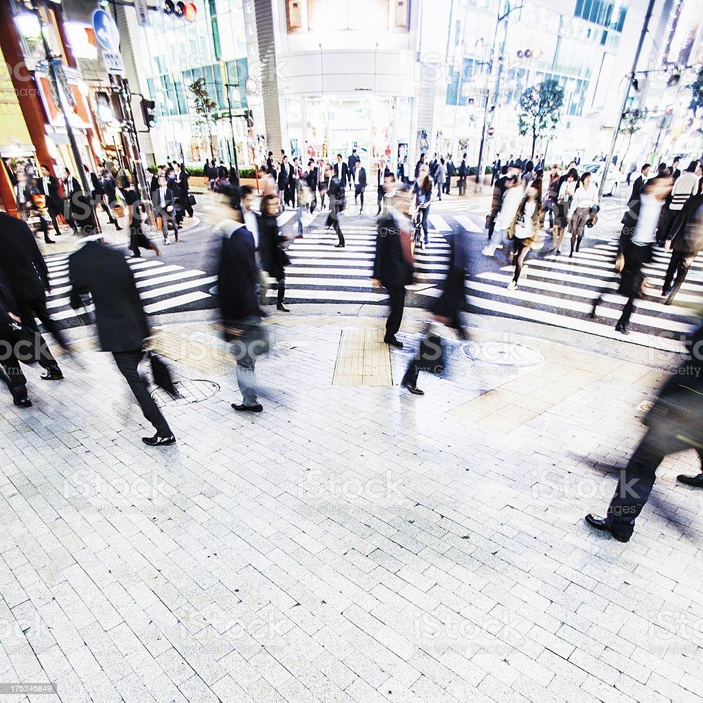 Busy city streets. stock photo