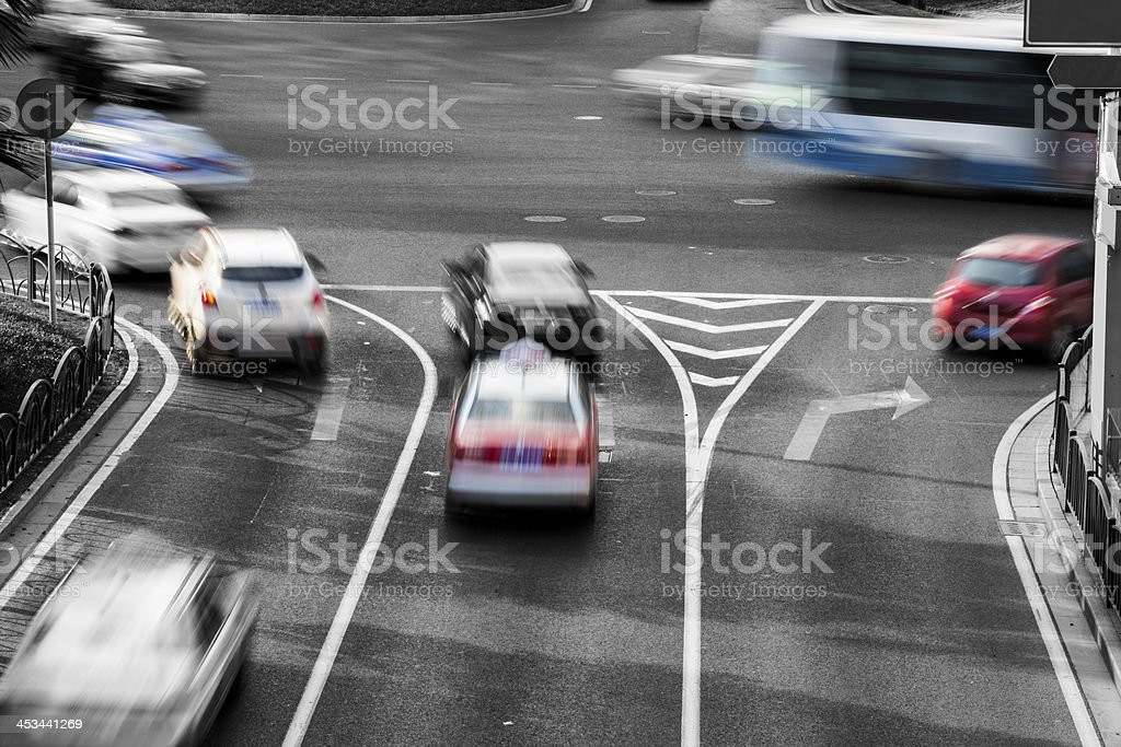 busy city traffic royalty-free stock photo