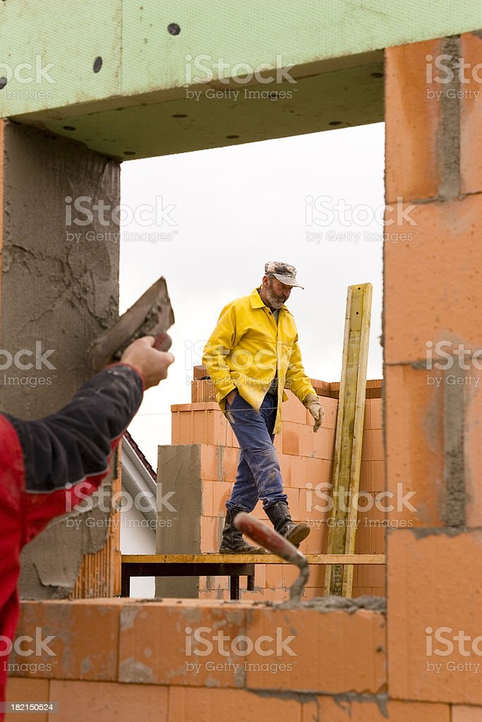 Busy Construction Workers royalty-free stock photo