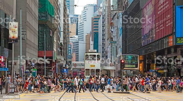 Busy crosswalk in central hong kong picture id496989765?b=1&k=6&m=496989765&s=612x612&h=ohehkcslx5oa7upgipjc vwrqb vinulejcgrofcgyy=