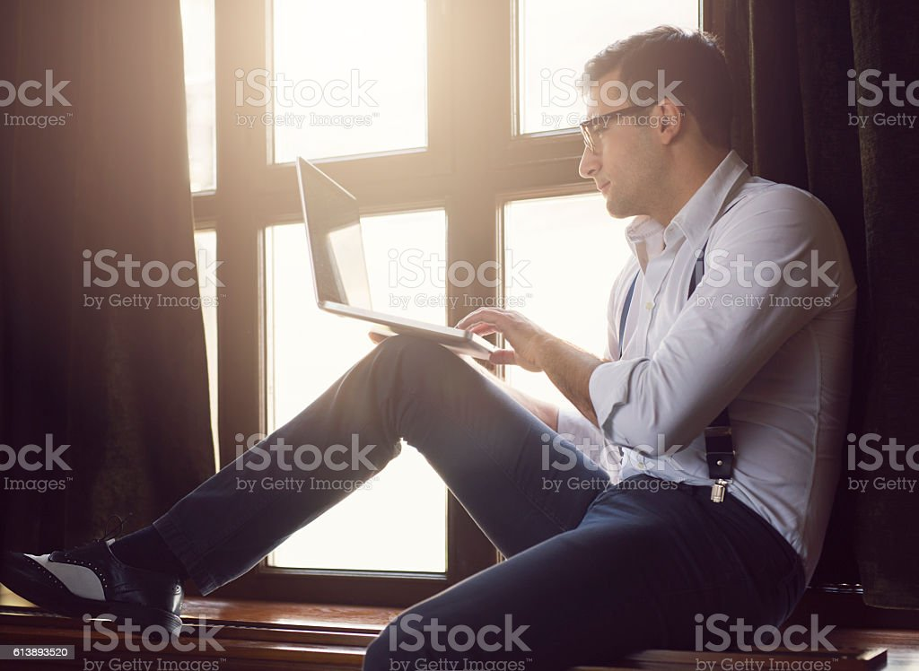 Busy dandy stock photo