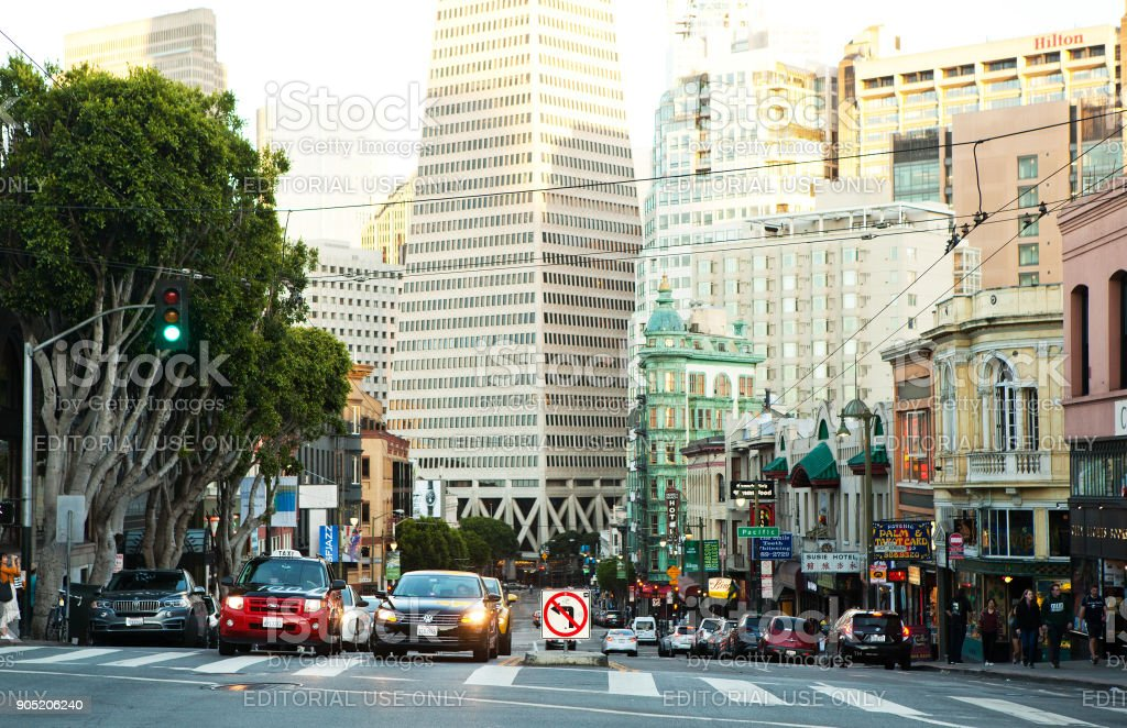 Busy day in San Francisco. stock photo