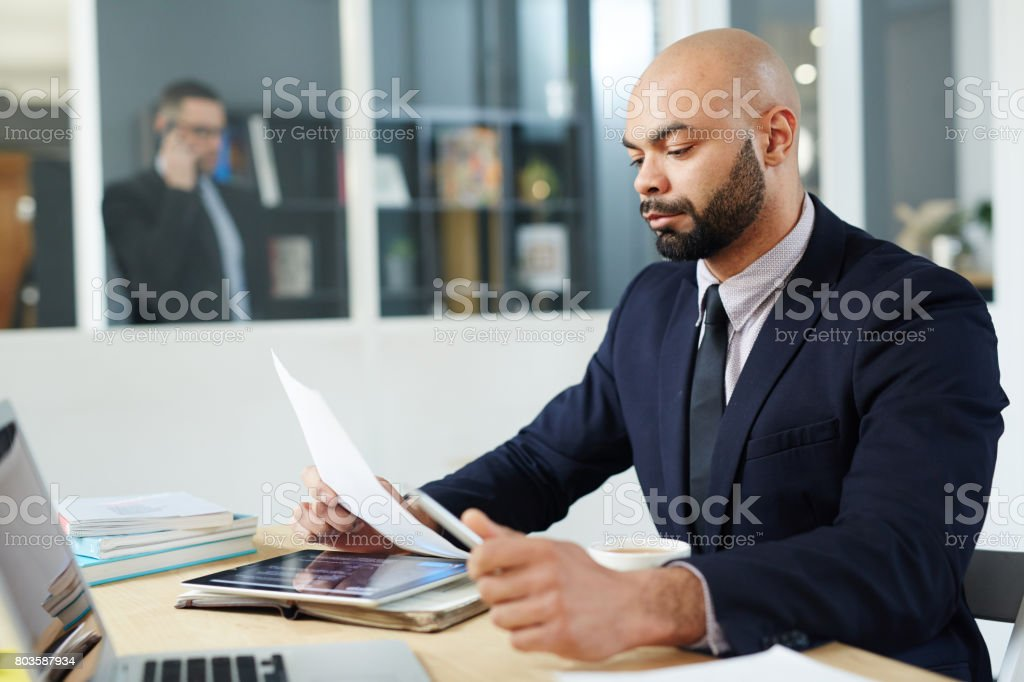Busy economist stock photo