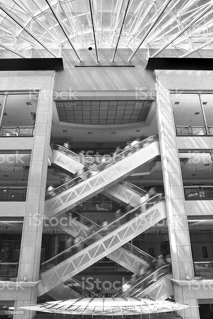 Busy Escalator royalty-free stock photo