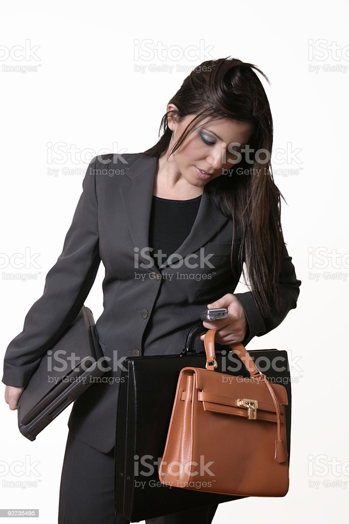 Busy Executive royalty-free stock photo